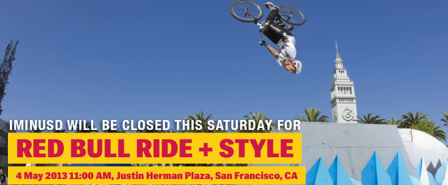 iMiNUSD Will Be Closed for RIDE + STYLE