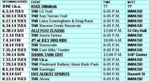 SJF: June-July Tentative Schedule